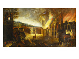 The Burning of Troy Kunstdrucke von Lucas van Valkenborch (Follower of)