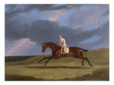 Corduroy', a Bay Racehorse, with a Jockey Up, Galloping on a Racecourse Prints by John Frederick Herring I