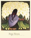 The Flower Seller, c.1942 Affiches par Diego Rivera