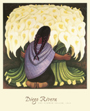 The Flower Seller, c.1942 Prints by Diego Rivera