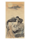 Amorous Couple in a Small Boat; Couple D'Amoureux Dans Une Barque Giclee Print by Théophile Alexandre Steinlen