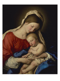 The Madonna with the Sleeping Christ Child Posters by  Sassoferrato (Giovanni Battista Salvi)