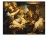 Putti Sharpening their Arrows Giclee Print by Valerio Castello