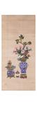 Floral Arrangements in Cloisonne Jars Premium Giclee Print