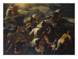 The Battle Between the Israelites and the Amalekites, Aaron and Hur Supporting Moses' Arms on a… Arte por Luca Giordano