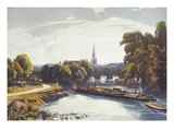 Abingdon Bridge and Church. from 'A Series of Picturesque Views of the River Thames' Giclee Print by William Havell