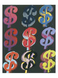 $9, c.1982 (on black) Pósters por Andy Warhol
