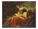 Lot and His Daughters; Loth Et Ses Filles Kunstdruck von Joseph Marie Vien