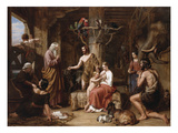 The Return of the Dove to the Ark Premium Giclee Print by Charles Landseer