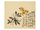 A Page (Flowers) from Flowers and Bird, Vegetables and Fruits Kunstdrucke von Li Shan