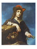 David with the Head of Goliath Plakater af Carlo Dolci