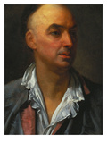 Portrait of Denis Diderot, Bust-Length, Wearing an Open, Lace-Collared, Shirt and Jacket Print by Jean-Baptiste Greuze