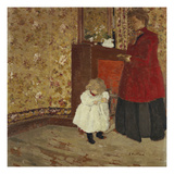 Mother and Child; Mere Et Enfant Kunstdruck von Edouard Vuillard