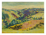 On the Hills of the Sedelle; Sur Les Hauteurs De La Sedelle Posters by Armand Guillaumin