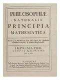 Sir Isaac Newton - Philosophiae Naturalis Principia Mathematica Digitálně vytištěná reprodukce