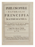 Philosophiae Naturalis Principia Mathematica Giclee Print by Sir Isaac Newton