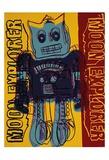 Moon Explorer Robot, c.1983 (blue & yellow) Prints by Andy Warhol