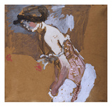 Woman with Red Corset; La Femme Au Corset Rouge Giclee Print by Edouard Vuillard