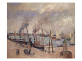 The Port at Le Havre; Le Port Du Havre Poster by Camille Pissarro