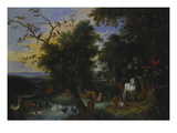 Garden of Eden Giclee Print by Jan van Kessel