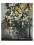 The Two Vases of Flowers; Les Deux Vases De Fleurs Prints by Paul Cézanne