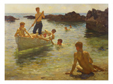 Morning Splendour Premium Giclee Print by Henry Scott Tuke