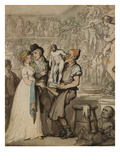 The Sculptor's Workshop: Buying Casts Print by Thomas Rowlandson