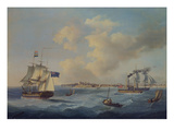 A 44-Gun Frigate, a Passenger Paddle-Steamer and Other Shipping Off St. Peter Port, Guernsey Giclee Print by John Thomas Serres