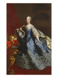 Portrait of Empress Maria Theresa of Austria (1717-80), in a Blue Dress Decorated with Lace, an… Giclee Print by Martin II Mytens/ Meytens
