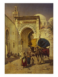 An Arab Street Scene Giclee Print by Rudolf Gustav Muller Wiesbaden