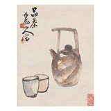 Teapot and Cups Print by Wang Zhen