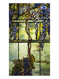 Detail from a Fine Leaded Glass Triptych Window (Wisteria) Giclee Print