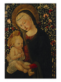 The Madonna and Child Seated before Rose Bushes, the Child Holding a Bird Giclee Print by  The Pseudo-Pierfrancesco Foirentino