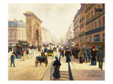 Porte Saint-Denis, Paris Giclee Print by Vicente De Paredes
