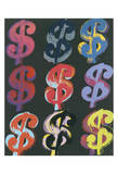 $9, c.1982 (on black) Art by Andy Warhol