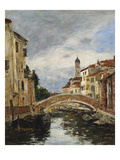 A Small Venetian Canal; Petit Canal a Venise Giclee Print by Eugene Boudin