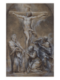 Christ on the Cross with the Virgin Mary, Saint John and the Magdalen Posters by Pietro da Cortona