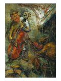The Two Musicians; Les Deux Musiciens Prints by Issachar Ryback