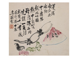A Page (Melon) from Flowers and Bird, Vegetables and Fruits Giclee Print by Li Shan