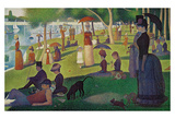 Sunday Afternoon on the Island of Grand Jatte, c.1864-6 Prints by Georges Seurat