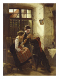 The Patient Pet Giclee Print by Gustav Igler