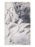 The Head of a Young Man, in Profile to the Left Giclee Print by Adolph Menzel
