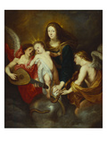 The Virgin and Child Triumphing over Sin, with Two Musicmaking Angels Gicl&#233;e-Druck von Sir Anthony Van Dyck (Circle of)