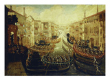 A Regatta on the Grand Canal Giclee Print by Joseph Heintz (Manner of)