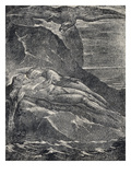 Albion on the Rock, from Milton Giclee Print by William Blake