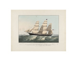 The Clipper Ship, Sovereign of the Seas, c.1852 Posters by Nathaniel Currier