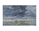 Figures on the Beach Print by Eugene Boudin