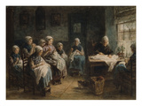 Sewing School at Katwijk Giclee Print by Jozef Israels