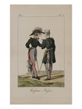 Uniformes Russes Giclee Print by Horace Vernet