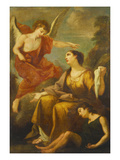 The Angel Appearing to Hagar and Ishmael in the Desert Premium Giclee Print by Antonio Bellucci